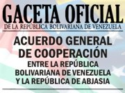 Acuerdo de Cooperacin entre Venezuela y Abjasia